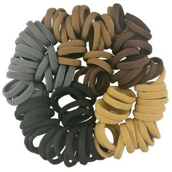 Seamless Cotton Hair Ties No Crease Damage Hair Bands for Thick Hair