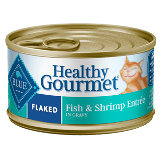 THE BLUE BUFFALO CO. BLUE™ Healthy Gourmet® Flaked Fish & Shrimp Entrée For Adult Cats