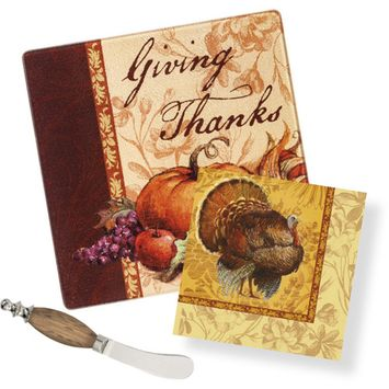Count your Blessings It's a Party Gift Set with Wood Handle Spreader