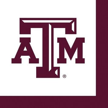 36 Pack Texas A&M Luncheon Paper Napkins