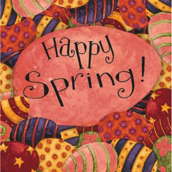 Luncheon Napkin, Happy Spring