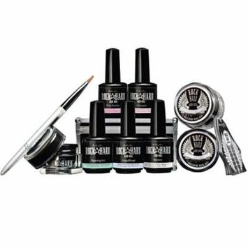Artistic Rock Hard Gel Starter Kit with 8 Gels, Oval Brush, and Nail Forms