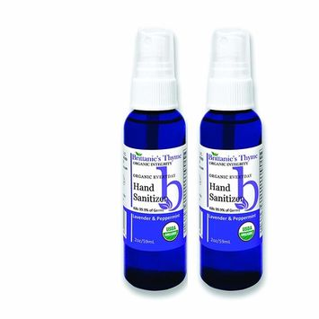Organic Natural Hand Sanitizer Spray 2 Pack (Lavender)