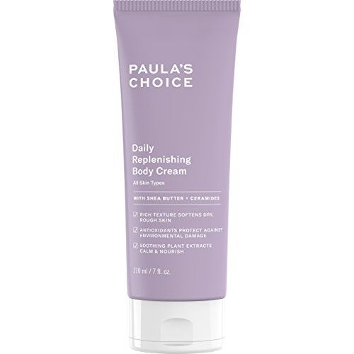 Paula's Choice Daily Replenishing Body Cream, 7 Oz. (1 Count), With Shea Butter, Vitamin E, Green Tea, and Ceramides, Fragrance Free Unscented Moisturizing Lotion for Hands and Body