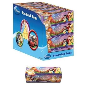 Disney Tinkerbell Personalizable Sandwich Bags - Disney Fairies Tinkerbell Resealable Sandwich Bags (20 Bags)