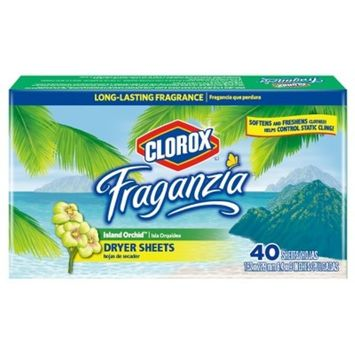 Clorox Fraganzia Island Orchid Scented Dryer Sheets - 40ct