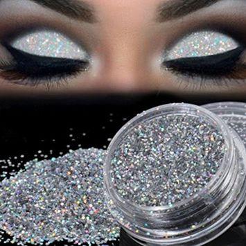 Datework Sparkly Makeup Glitter Loose Powder Eyeshadow Silver Pigment