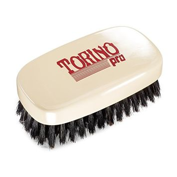 Torino Pro Wave Brush #790 By Brush King - 11 Row Firm Soft 360 Waves Palm Brush with Extra Long Bristles