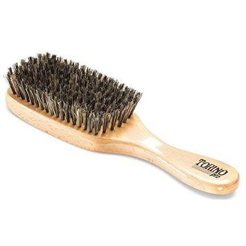 Torino Pro Wave Brush #910 By Brush King - Firm Soft 360 Waves Brush - Long Bristles