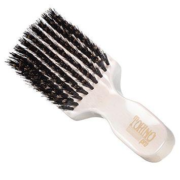 Torino Pro Club Brush #850 (MEDIUM) by Brush King - Men's Travel Size Hair Brush, Club Style - 100% Pure Boar Bristles - Great for ALL HAIR TYPES