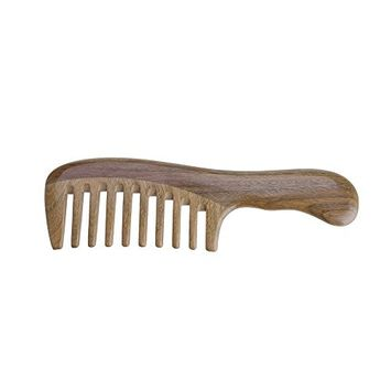 Mmrm Natural Wood Sandalwood Comb Wooden Massage Combs Home Detangling Hair Styling Hairdressing Tool (Wide Tooth)