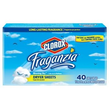 Clorox Fraganzia Morning Sky Scented Dryer Sheets - 40ct