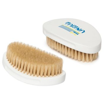 Torino Pro #340 100% Pure Boar Bristle Palm Soft Curved Hair Brush - Great 360 Wave Brush - Handheld Military Round Oval Curve Design - Naturally Moisturize -