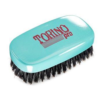 Torino Pro Wave Brush #750 By Brush King - 11 Row Firm Soft 360 Waves Palm Brush