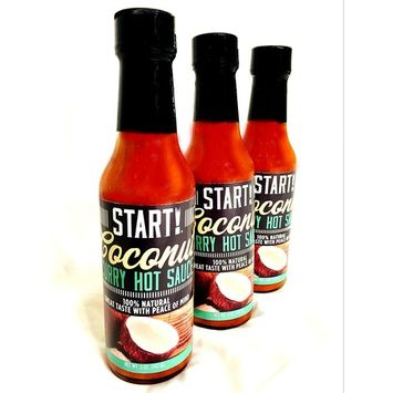 START! Coconut Curry Hot Sauce - Sampler Gift Pack - Vegan + Gluten Free - Everyday Gourmet Light Spice (3 pack)