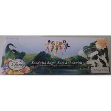 Disney Fairies Sandwich Plastic Resealable Bags / Personalize (20)