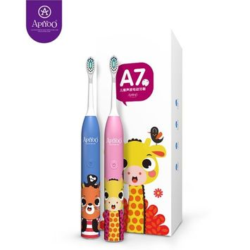 Kids Children's Sonic Electric Rechargeable Toothbrush With Smart Timer Waterproof Powered By Apiyoo