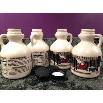 Maple Syrup Jugs - Pint (16 FL OZ Each) - Case of 4 Empty Containers