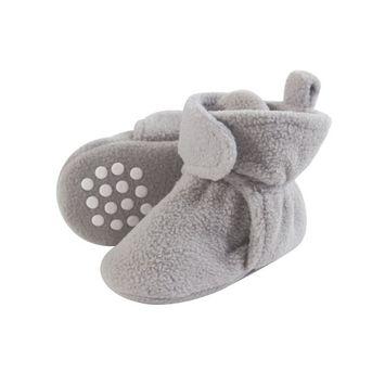 Luvable Friends Baby Fleece Booties, 0-24 Months