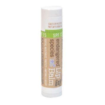 Endangered Species SPF 15 Lip Balm, Vanilla Bean Flavor, 0.15 Ounce (pack of 12)
