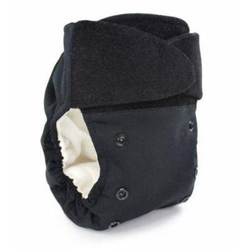 BabyKicks Basic Cloth Diaper Hook and Loop Closure, Black
