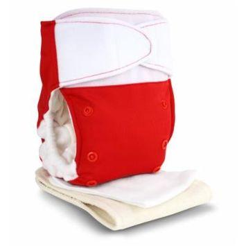 BabyKicks Premium Cloth Diaper Hook and Loop Closure, Poppy