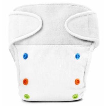 BabyKicks Basic Cloth Diaper Hook and Loop Closure, White