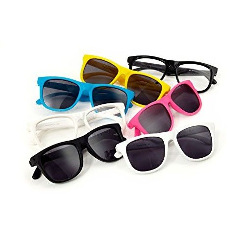 Hipsterkid Baby Opticals - Polarized Sunglasses w/Strap - Kids/Girl/Boy (White/Clear UV)