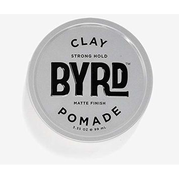 BYRD Clay Pomade - Strong Hold, Ultra-Matte Finish, For All Hair Types, Mineral Oil Free, Paraben Free, Phthalate Free, Sulfate Free, Cruelty Free, Eucalyptus Scent, 3.35 Oz