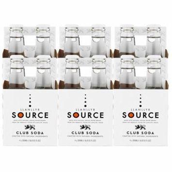 Llanllyr Source Club Soda Mixer (Case of 6 - 4 Packs, 24 Bottles Total)