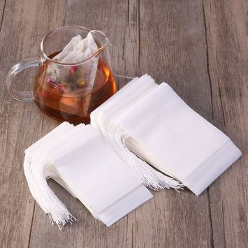 yasheng 200pcs Disposable Tea Bag Filter Paper Empty Tea Pouch Bags for Loose Leaf Tea Powder Herbs