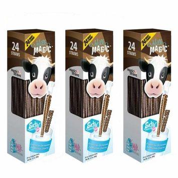 Milk Magic, Milk Straws, 24 Count (0.16oz Each), Chocolate, (3 packs)