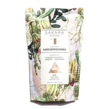 Sakara Classic Superfood Granola with Almonds and Goji Berries, 11.5oz bag [Classic Superfood]
