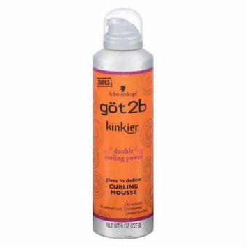 Got2b Kinky Curling Mousse 8.0 oz.(pack of 6)
