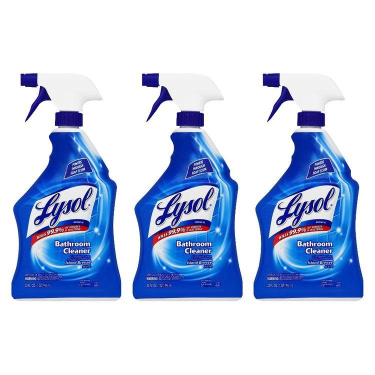 Lysol Bathroom Cleaner Trigger, 32 Ounces, 3 Pack