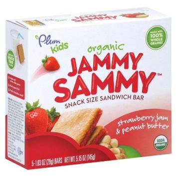 Nature's Path Plum Kids Organic Jammy Sammy Bars - Strawberry Jam & Peanut Butter 5.