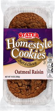 Stater bros® Homestyle Soft & Chewy Oatmeal Raisin Cookies