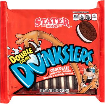 Stater bros® Dunksters® Double Creme Chocolate Sandwich Cookies