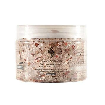 Reveal Naturals Dead Sea Bath Salts Crystals Enchanting Rose - Argan Oil - Essential Oil [Rose]