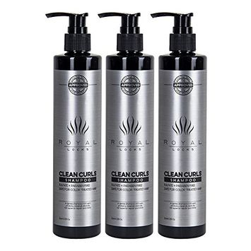 Curly Hair Shampoo (pack of 3) by Royal Locks Clean Curls is Sulfate and Paraben Free Gentle and hydrating for curly, dry, damaged, grey, permed, or fine hair. …