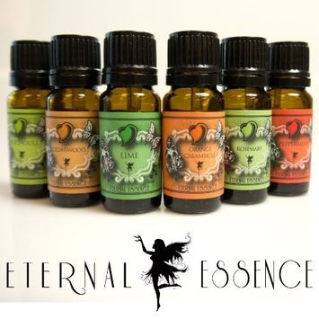 Fragrance Oil - Eternals Top New Addition 6 Pack - Lime, Orange Creamsicle, Patchouli, Cedarwood, Vanilla, Peppermint- Scented Oil