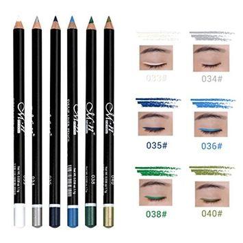 Hatop 6pcs/Set Longlasting Eye Liner Pencil Pigment Waterproof Eyeliner Makeup