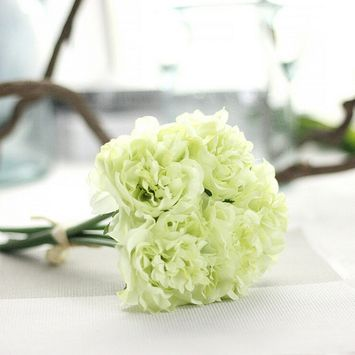 Voberry® Artificial Silk Fake Flowers Peony Floral Wedding Bouquet Bridal Hydrangea Home Decoration