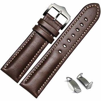 Voberry Genuine Leather Watch Band Strap + Lugs Adapters For Samsung Galaxy Gear S2 SM-R720