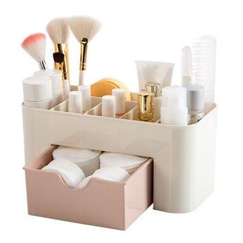 Voberry Saving Space Desktop Cosmetic Storage Makeup Organizer Drawer Holder