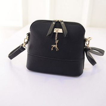 Women Messenger Bags Vintage Small Shell Leather Handbag Casual Bag BK