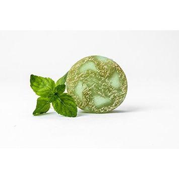 Reveal Naturals Peppermint & Tea Tree Luffa Soap - Body & Face Loofah Scrub - 100g/3.5oz [Peppermint]