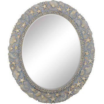 Paragon Coastal Polyurethane Mirror In Blue Finish 9560