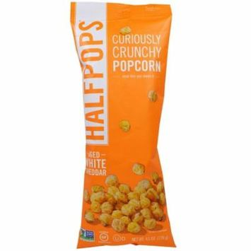 Halfpops, Curiously Crunchy Popcorn, Aged White Cheddar, 4.5 oz(pack of 4)