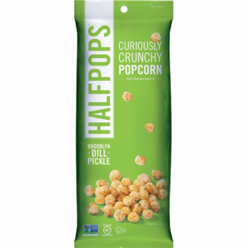 Halfpops Brooklyn Dill Pickle Popcorn, 1.4 oz, (Pack of 8)